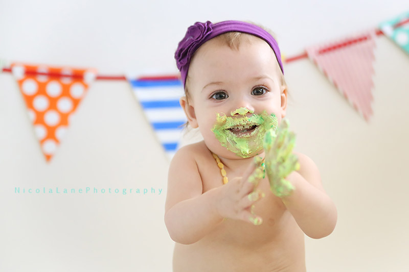 Clap Hands For a Cake Smash, Holly Springs Newborn Photography