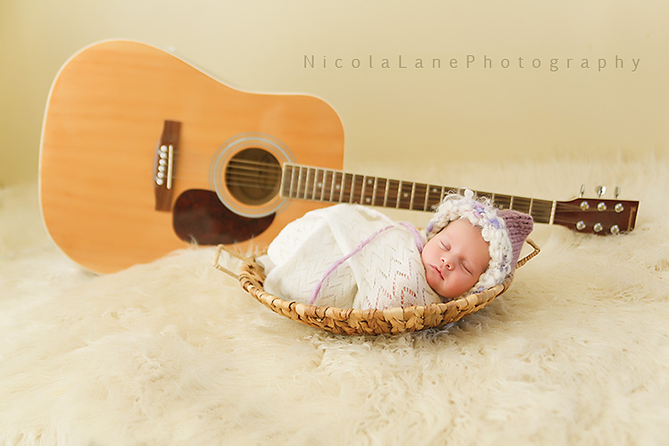 Newborn and Guitar Picture